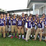 Seniors Football players visit Chackbay Elementary
