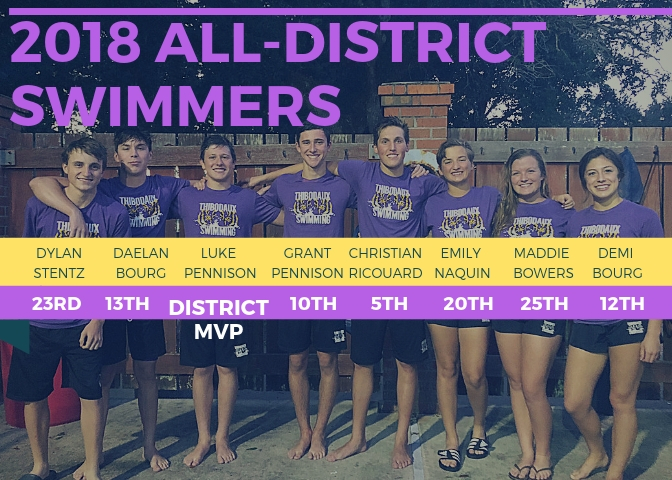 8 Tigers Named to the 2018 All-District Swim Team!