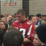 Atlanta Falcons player Ben Garland visits Central.
