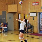 St. Mary's School Girls Varsity Volleyball beat Gold Beach High School 3-0