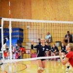 St. Mary's School Girls Varsity Volleyball falls to Klamath Union @Basin Best Tourney 0-2
