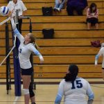 St. Mary's School Girls Varsity Volleyball beat Lakeview High School 3-1