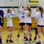 St. Mary's School Girls Varsity Volleyball beat Illinois Valley High School 3-0