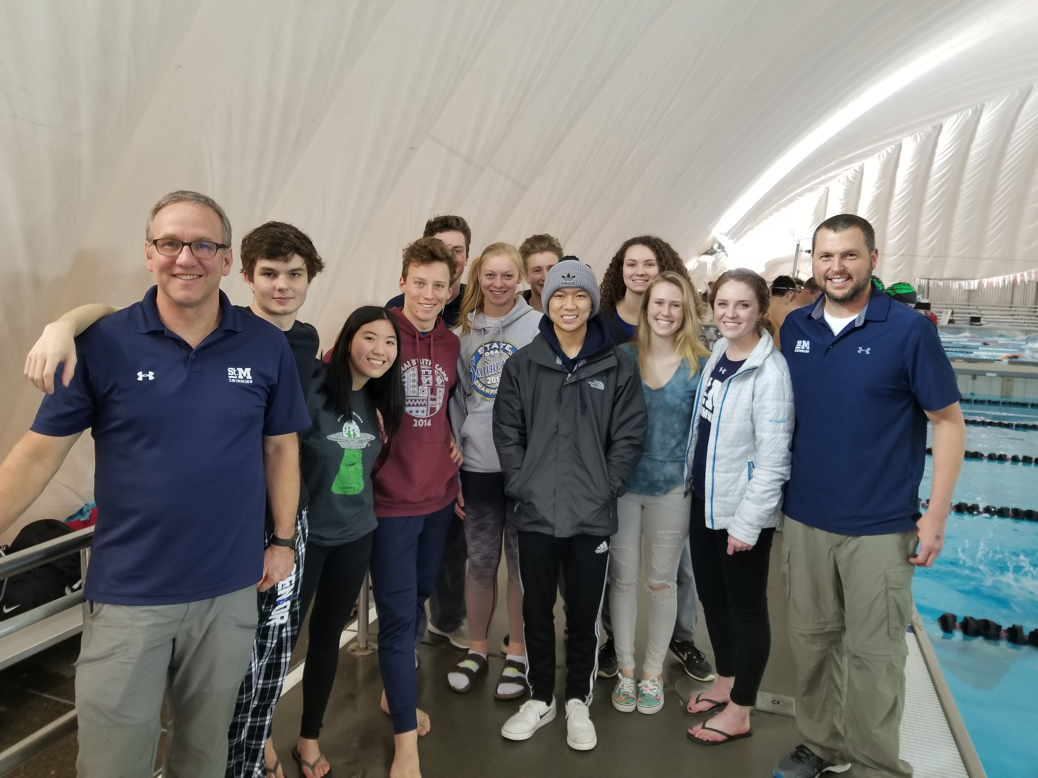 Coed Varsity Swimming finishes 10th place at State Swim Meet