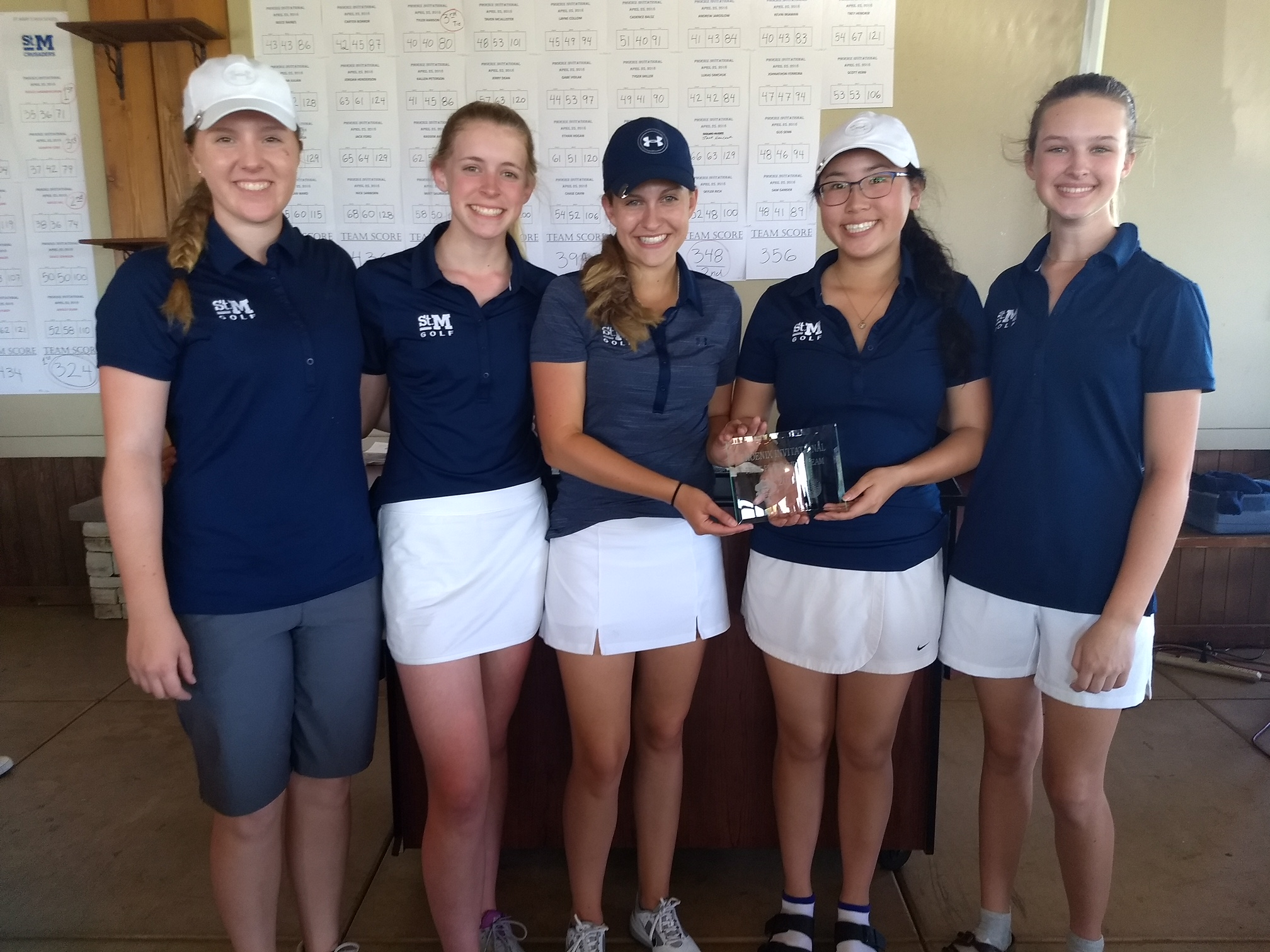 St. Mary's Girl's Golf shoot's lowest team score EVER!