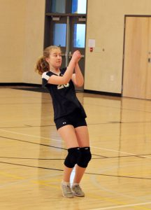 Middle school girls volleyball vs Gold Hill
