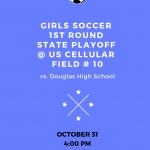 Girls Soccer 1st Round