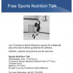 Free Sports Nutrition Talk