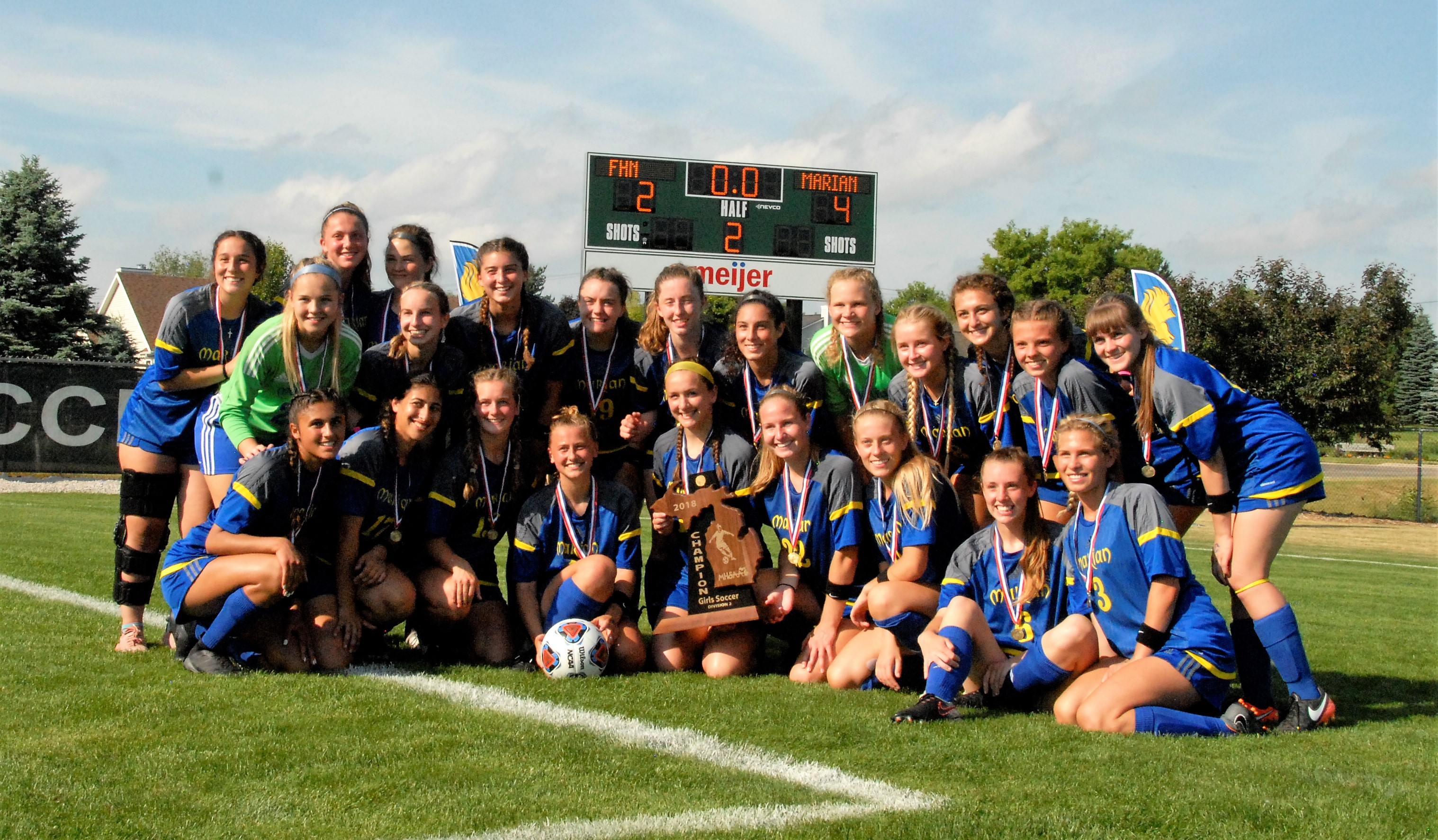 Marian Soccer – Back to Back State Champs!