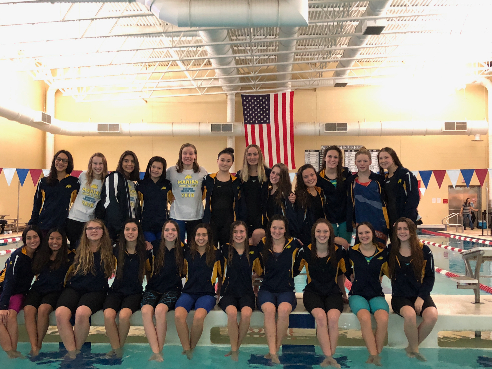 Mustangs take 2nd place at Catholic League Meet