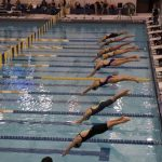 Girls Varsity Swimming beats Detroit Country Day and Grosse Pointe South