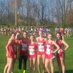 Lady Spartan runners competing at the Semi-state.