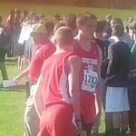 Wes Smith and Toby Musselman preparing to race.