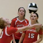 Connersville High School Girls Varsity Volleyball beat Batesville High School 3-2