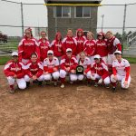 Girls Varsity Softball wins championship game against Madison Grant 11-10 at Argyll Invitational