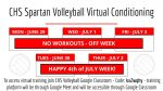 CHS Spartan Volleyball Virtual Conditioning – JUNE