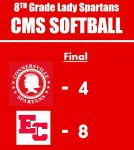 8th Grade Softball falls to Sunman-Dearborn Middle School 8 – 4