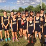 Group photo of the cross country team.