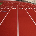 The track field.