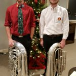 TCHS Band Students perform in TUBACHRISTMAS