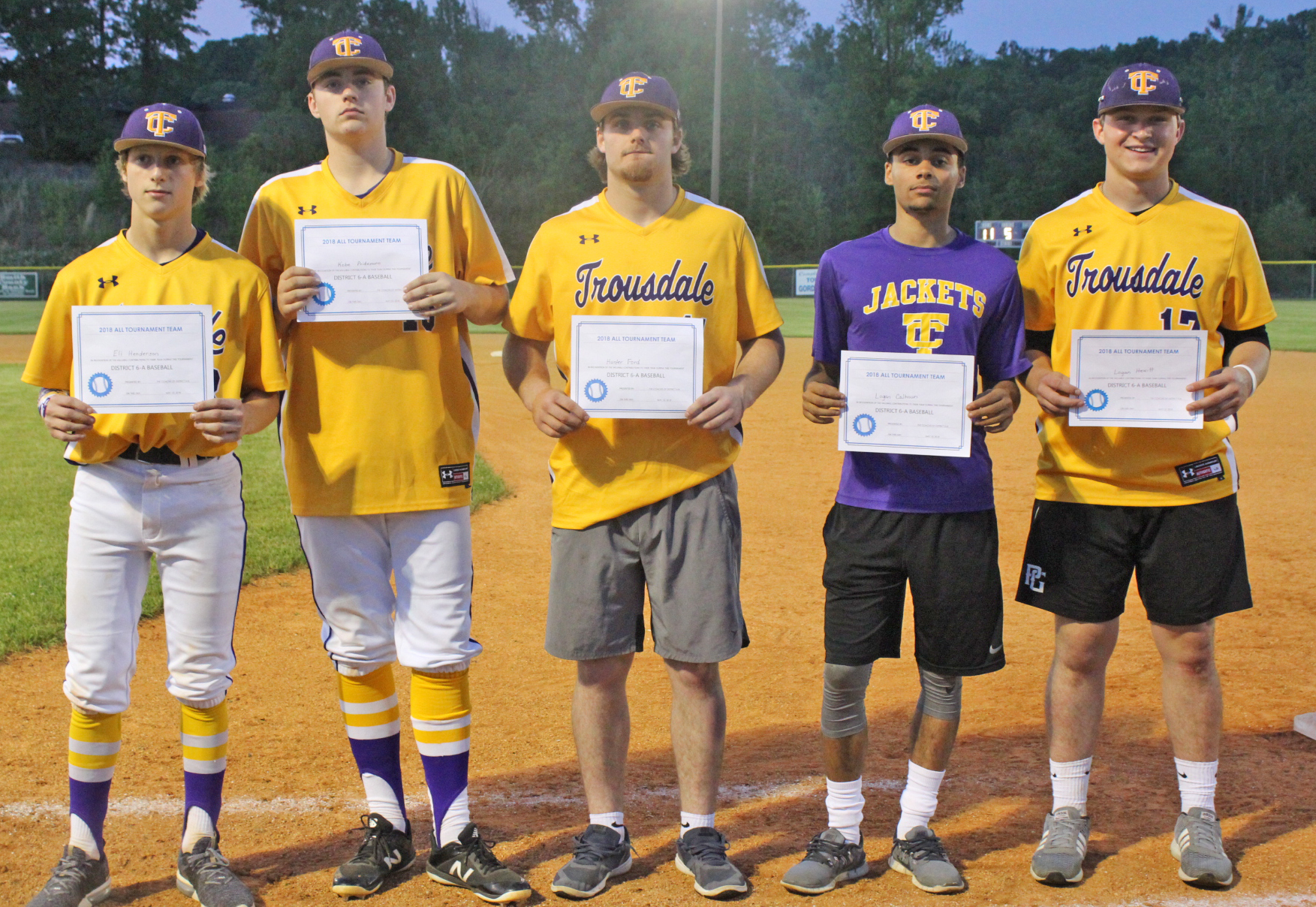 TCHS All District 6-A Baseball Players