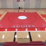 Wrestling unveils its new home wrestling mat
