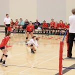 Saint Agnes High School Girls Varsity Volleyball beat South St. Paul 3-2