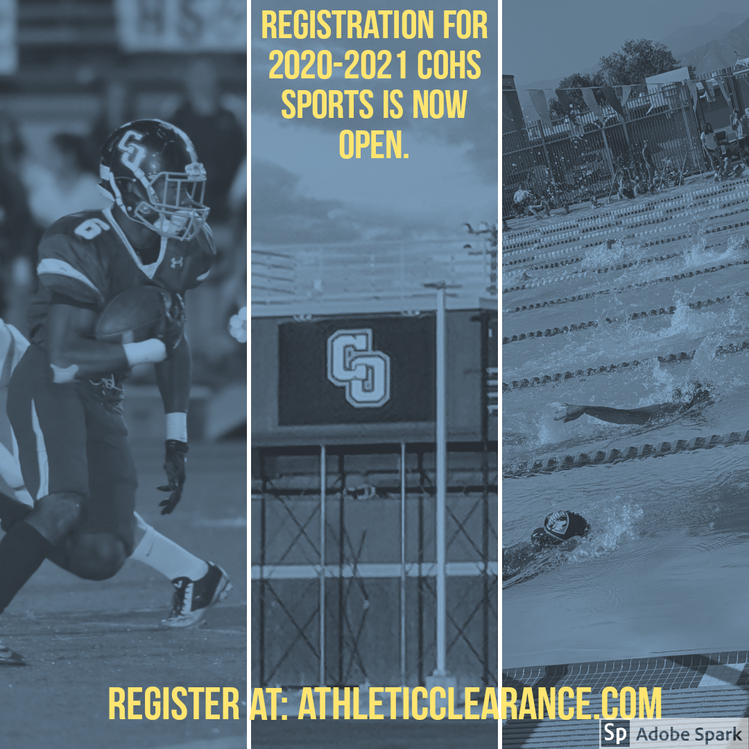Athletic Registration for 2020-2021 is Now Open