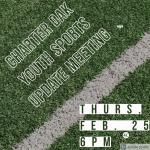 2/25/21 6pm – Charter Oak Youth Sports Update Meeting