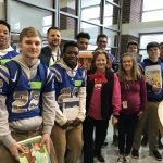"Atlee Football Participates in ""Tackle Reading"""