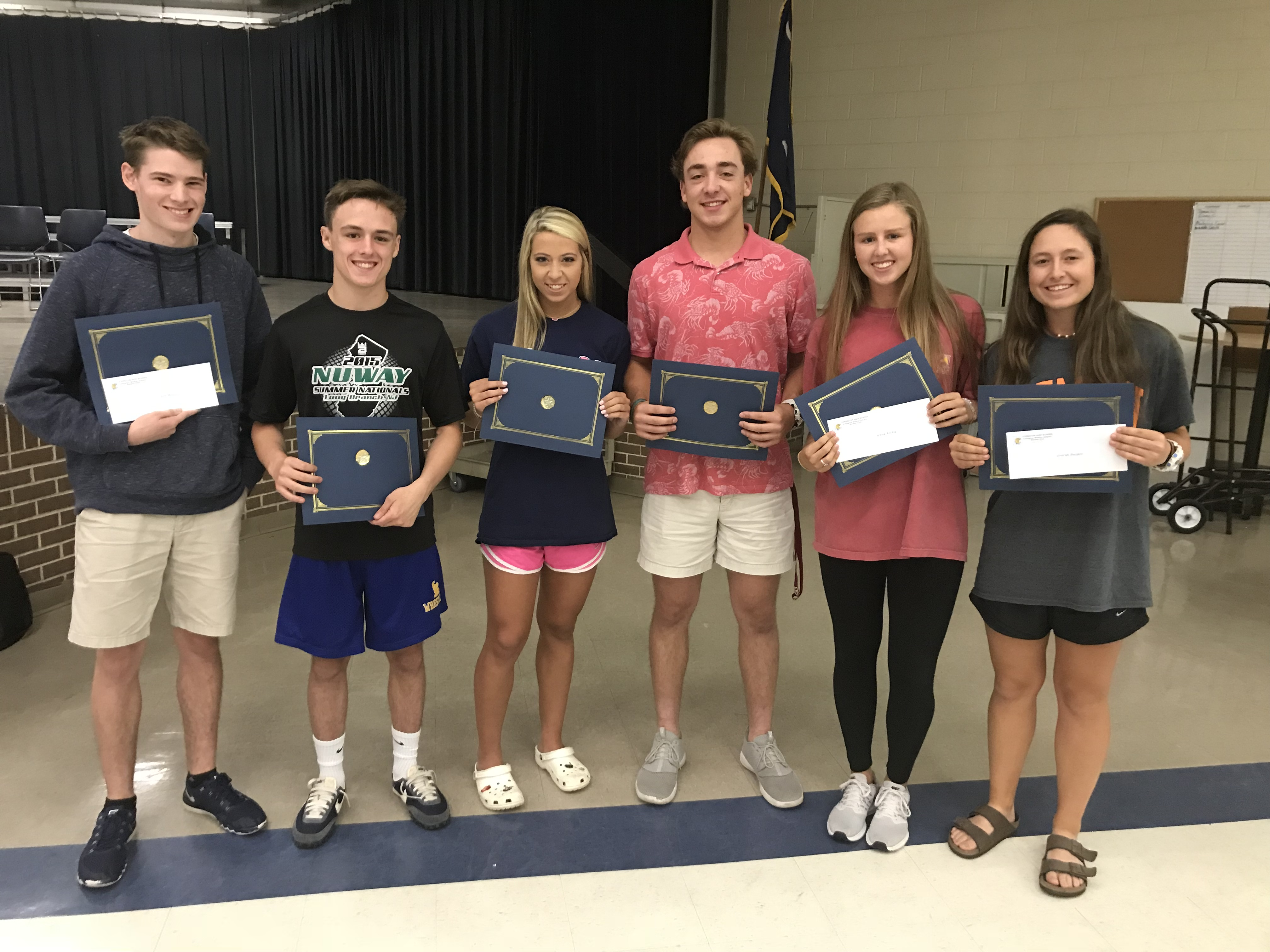 6 Student-Athletes Awarded Booster Club Scholarships!