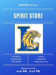 Spirit Store Open August 26 and 27