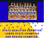 Cheer Team Wins Qualifier – Headed to State Finals!