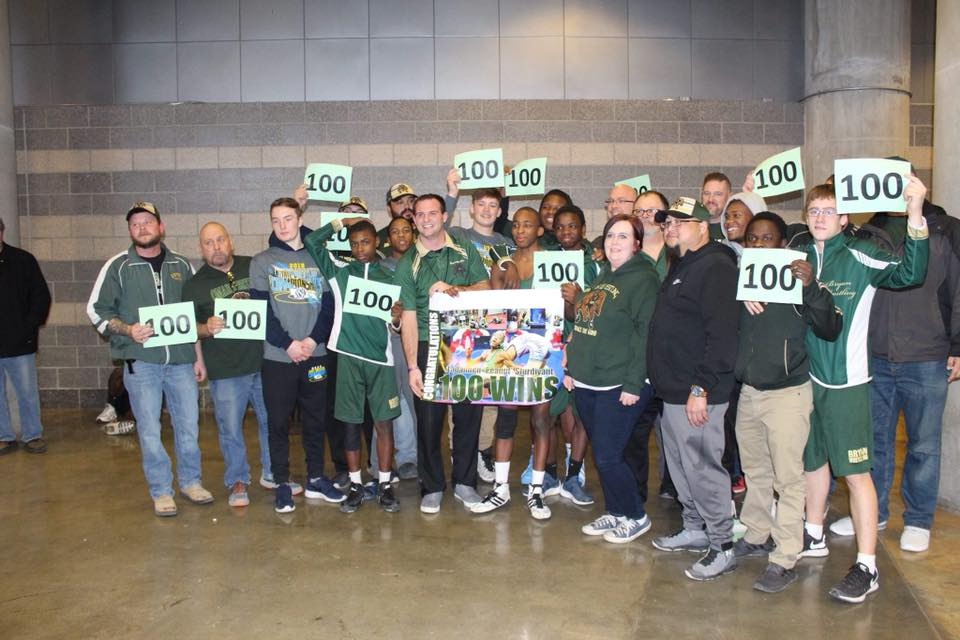 "Wrestling sends 7 Bears to STATE! ""Peanut"" reaches 100 wins."