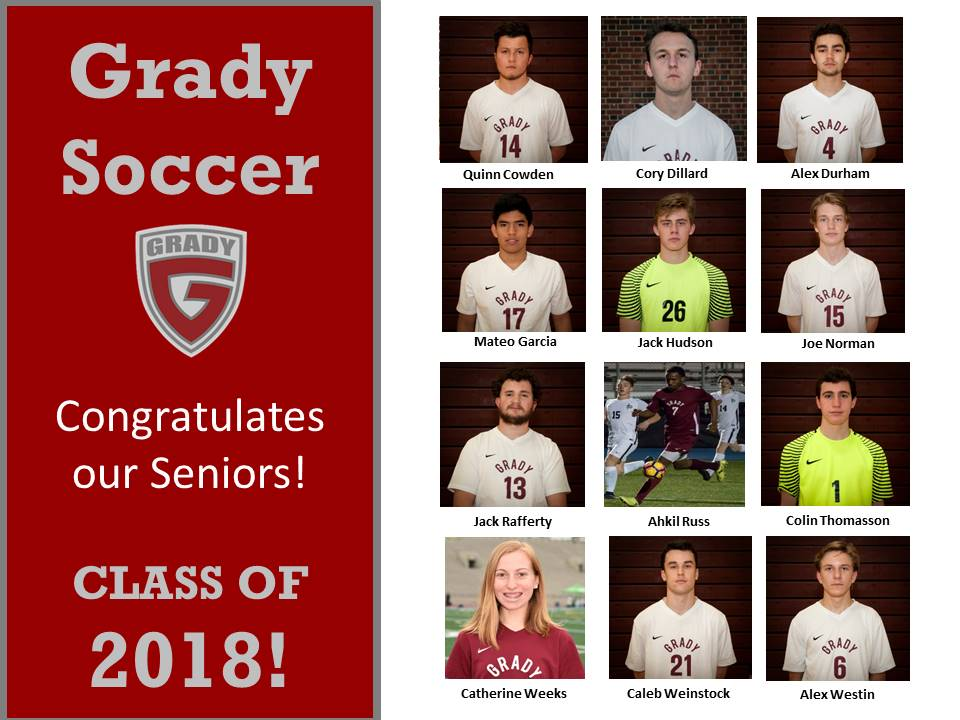 Grady Soccer Remains Undefeated in Conference Play – Prepares to Honor Seniors at Community Night Friday!