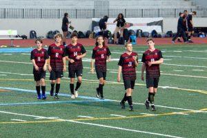 Boys JV Soccer Halftime Recognition 4/10