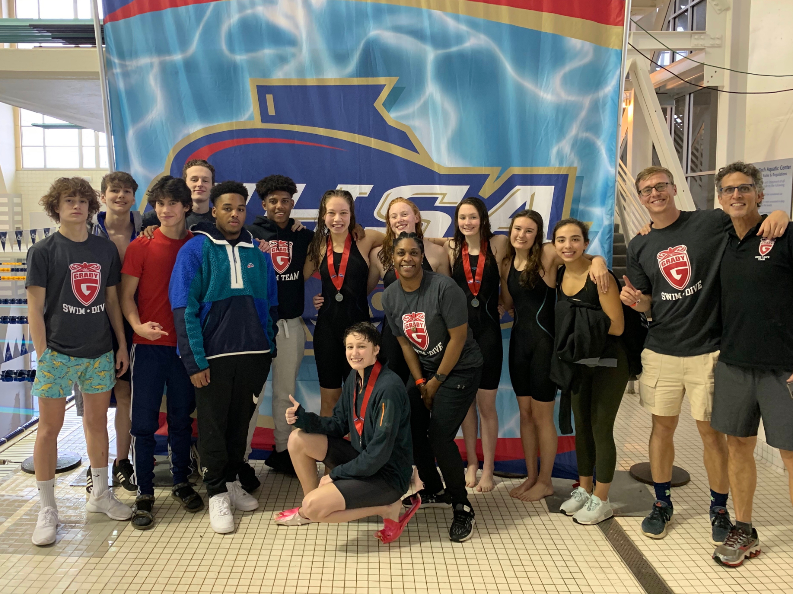 Record Setting Day for Knights at Georgia State Swimming Championship