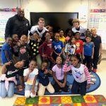 Football Team Gives Back at Local Elementary School