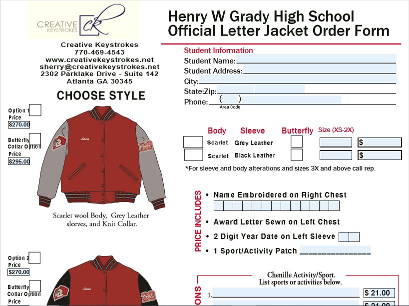 Letter Jacket Ordering is Now Open