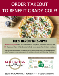 Order Takeout to Benefit Grady Golf