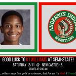 KJ Williams competes in Semi-State Saturday
