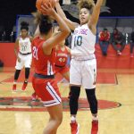 Lady Tribe rolls in NCC opener against Richmond