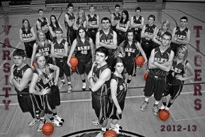 Boys and Girls Varsity Basketball Banner