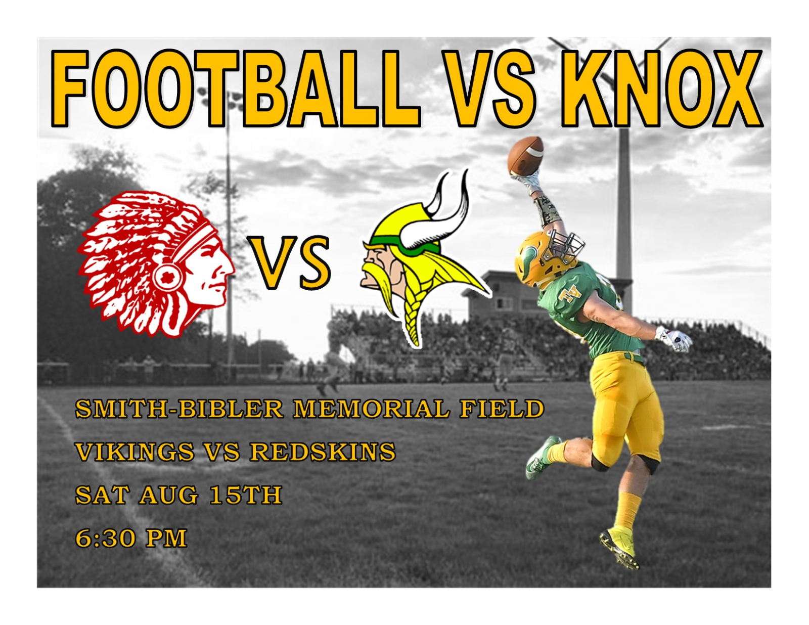 Football Scrimmage Information for Saturday Aug, 15th