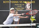 BOYS TENNIS TONIGHT: Home vs Wawasee