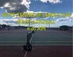 BOYS TENNIS TODAY @ LEWIS CASS INVITATIONAL