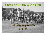 CROSS COUNTRY TONIGHT @ GOSHEN