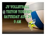 JV VOLLEYBALL TODAY @ TRITON TOURNEY