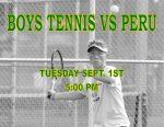 BOYS TENNIS TONIGHT VS PERU
