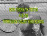 BOYS TENNIS TODAY VS TRITON